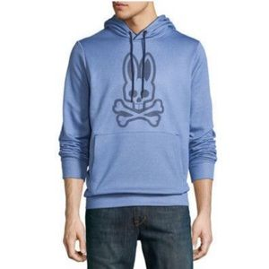 Psycho Bunny / Blue Thermo Active Pullover Hoodie